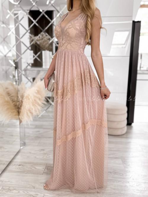 sukienka pudrowa maxi Linda
