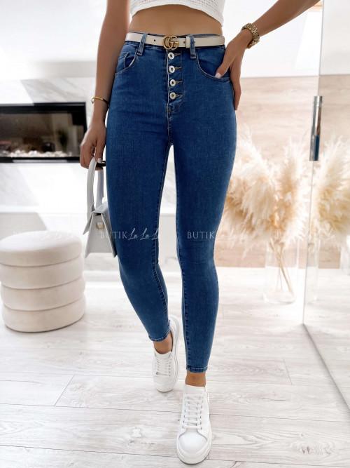 spodnie jeans blue z guzikami Dust