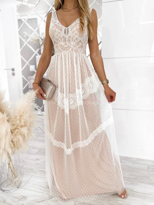 sukienka biała maxi Linda