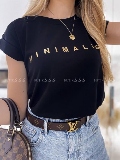T-shirt czarny Minimalist