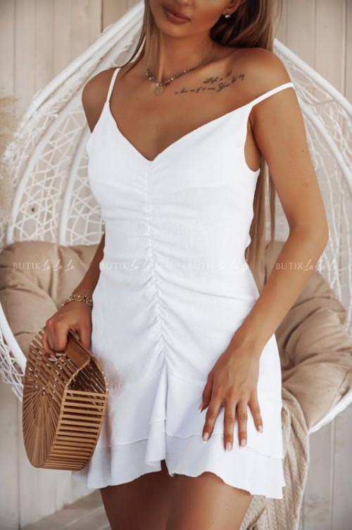 sukienka biała Aris