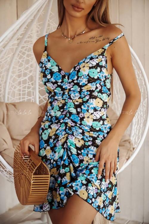 sukienka wielokolorowa Aris
