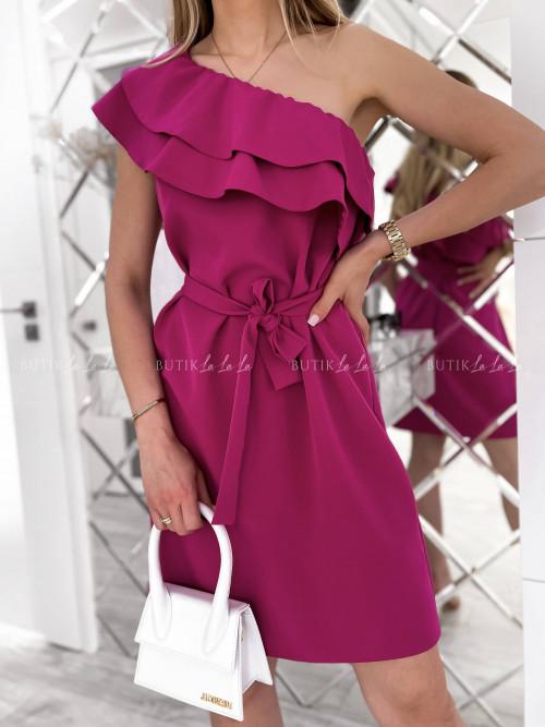 Sukienka amarantowa Bocca