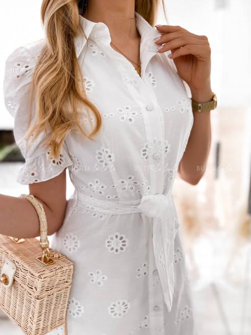 sukienka biała ażurowa Bonita