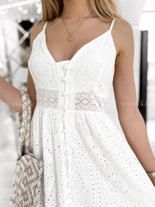 sukienka biała ażurowa Anima