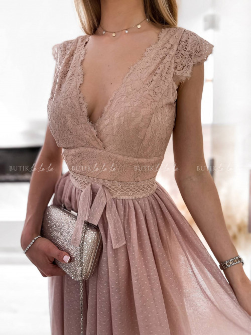 sukienka pudrowa Stella