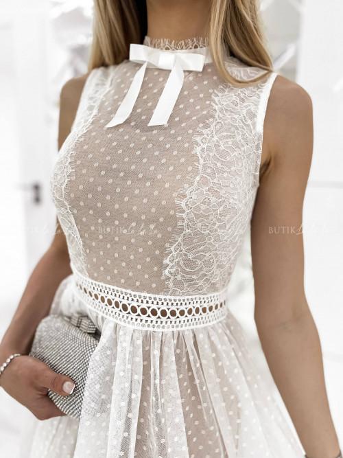 sukienka biała midi tiulowa Wenus