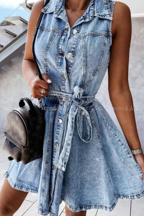 sukienka jeans blue Aris