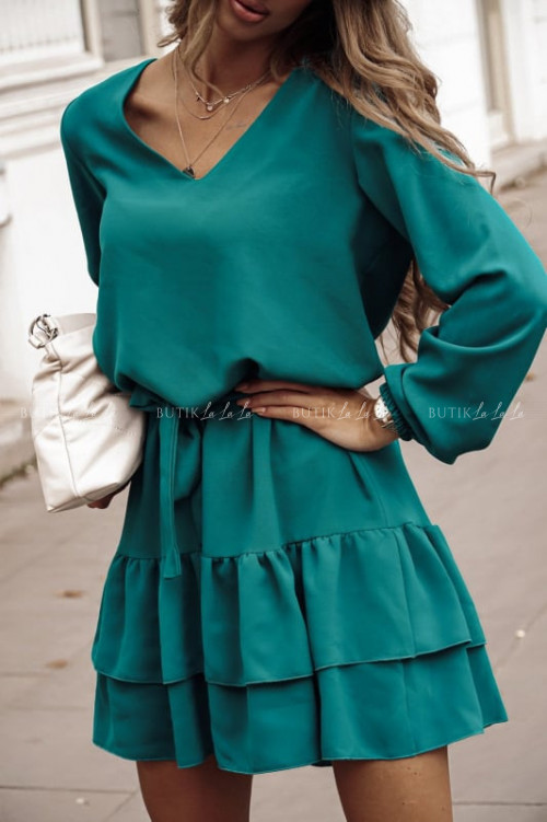 sukienka butelkowa zieleń Elen