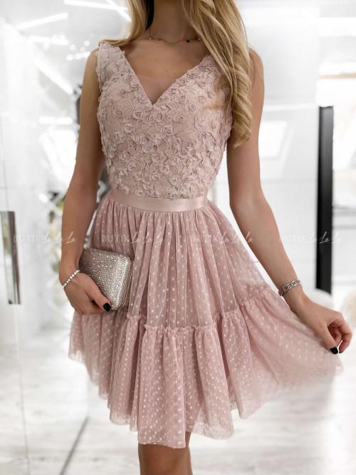 sukienka pudrowa Barissa