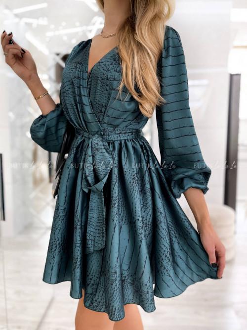 sukienka w kwiatowy print Emo