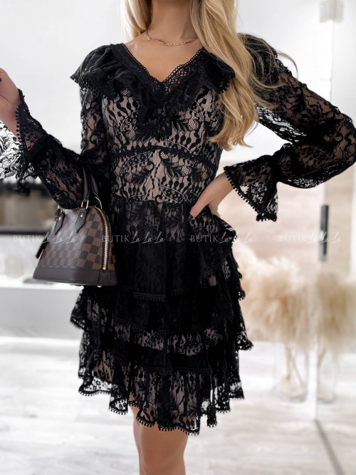 sukienka koronkowa czarna Falonica