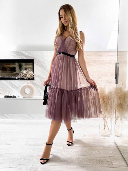 sukienka tiulowa mokka Picco