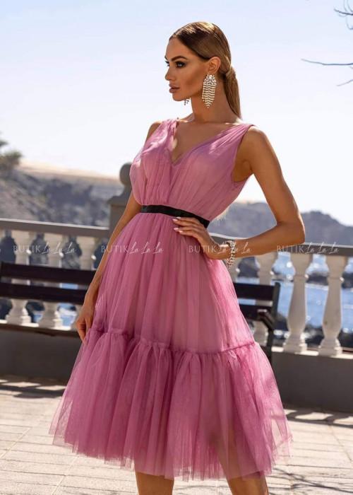sukienka tiulowa różowa Picco