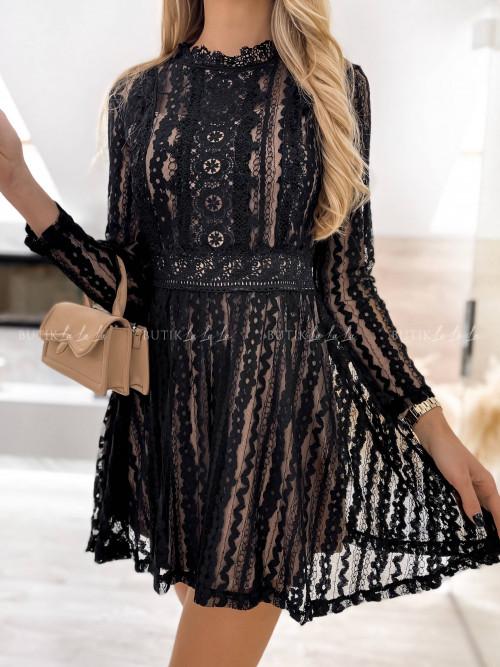 sukienka koronkowa czarna Airis