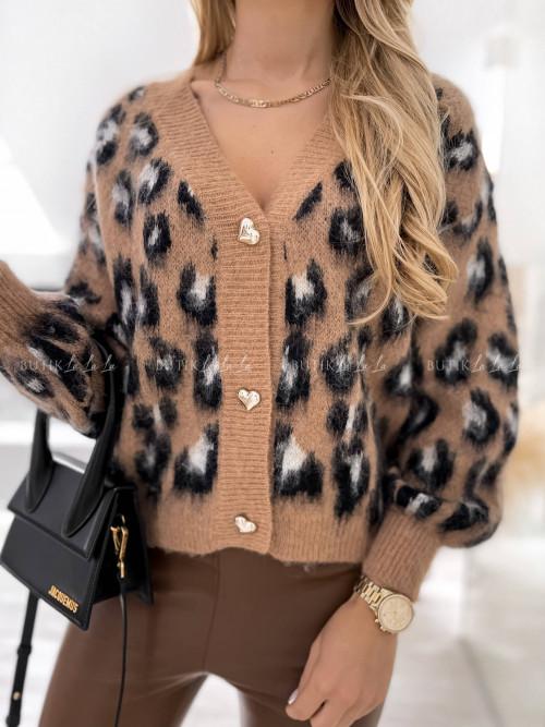 sweter w panterkowy wzór Tanessi