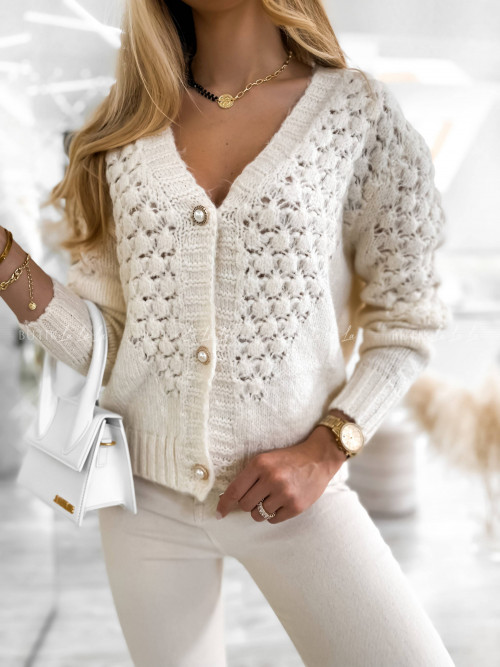 sweter kremowy Daily