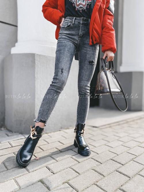 spodnie szare jeans Calos