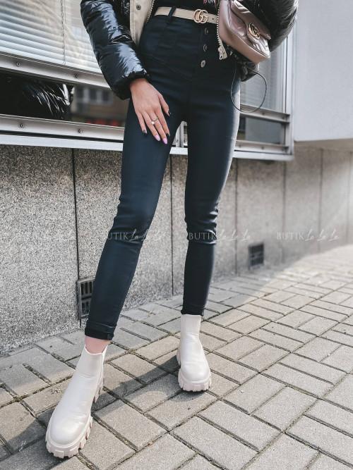spodnie czarne woskowane Frenso