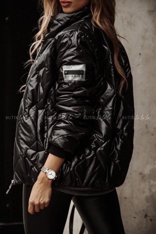 kurtka czarna pikowana Torino
