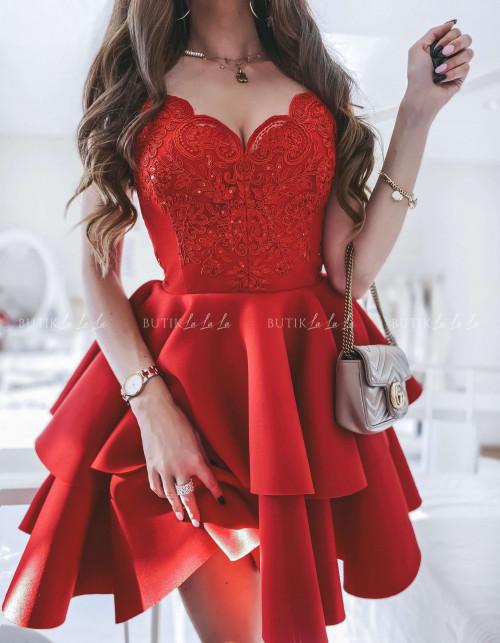 sukienka czerwona Emossi