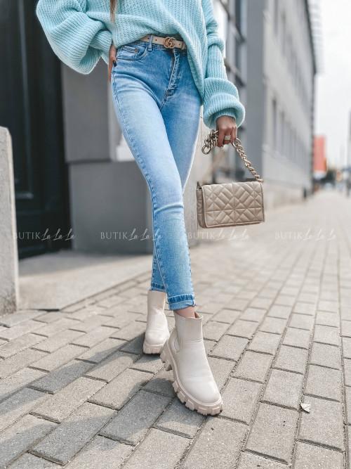 spodnie jeans blue Niss