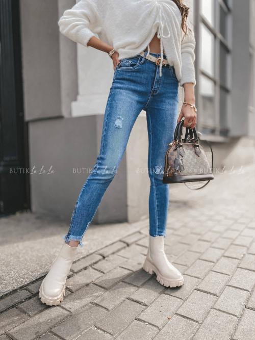spodnie jeans z suwakami Yeti