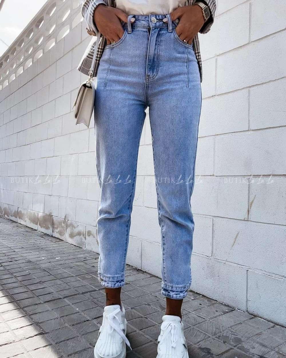 jeansy jasne damskie