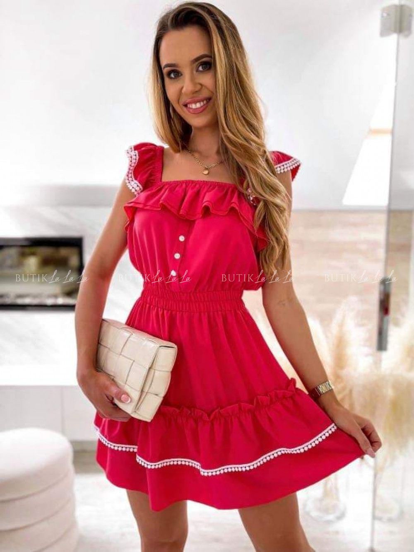 sukienka malinowa