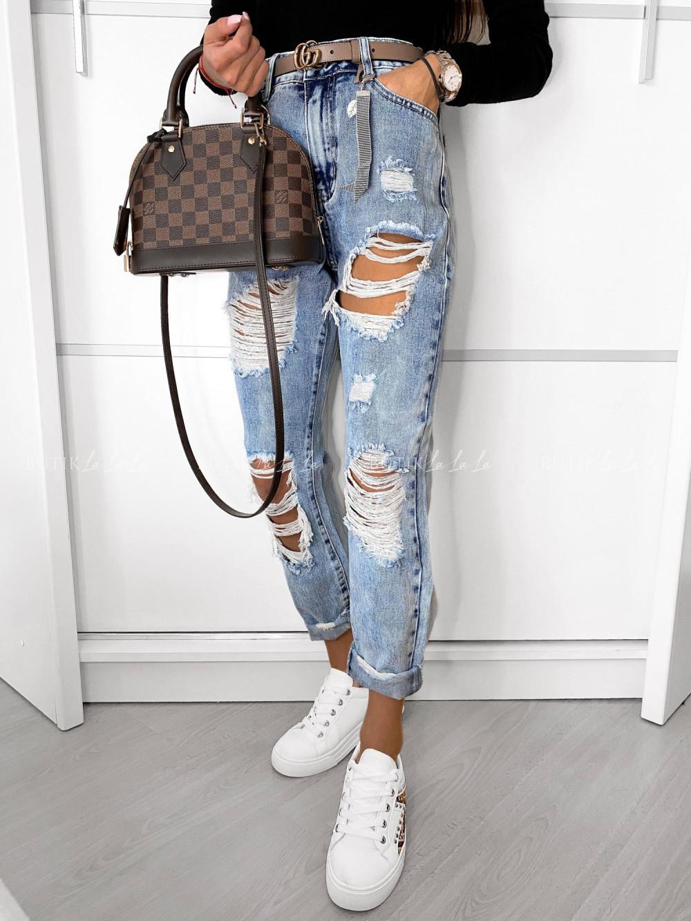 jeansy zwysokim stanem jasne