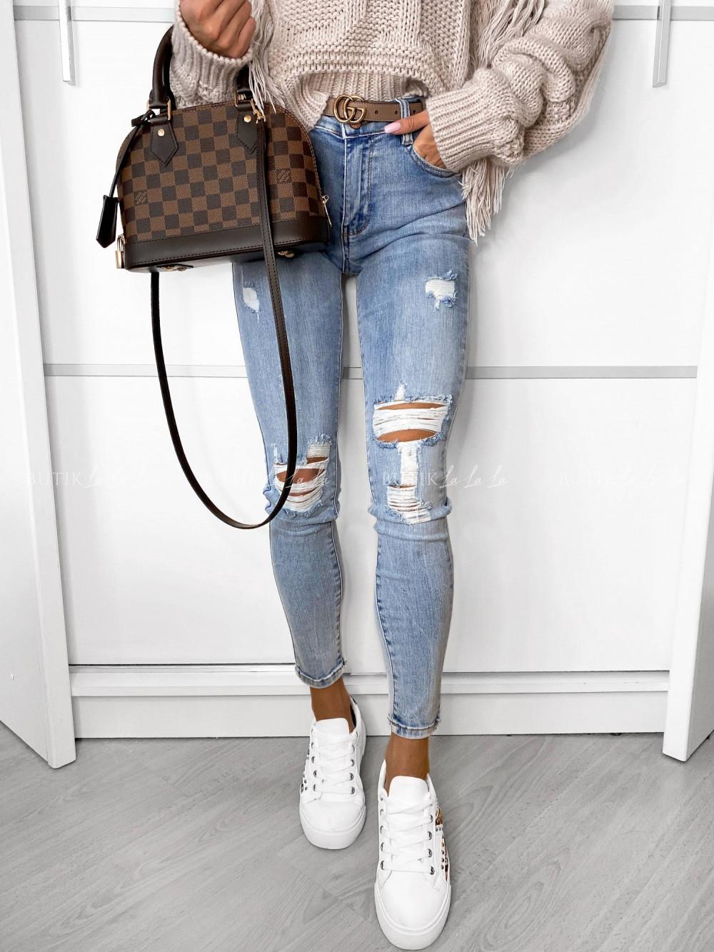 jasne jeansy damskie zwysokim stanem