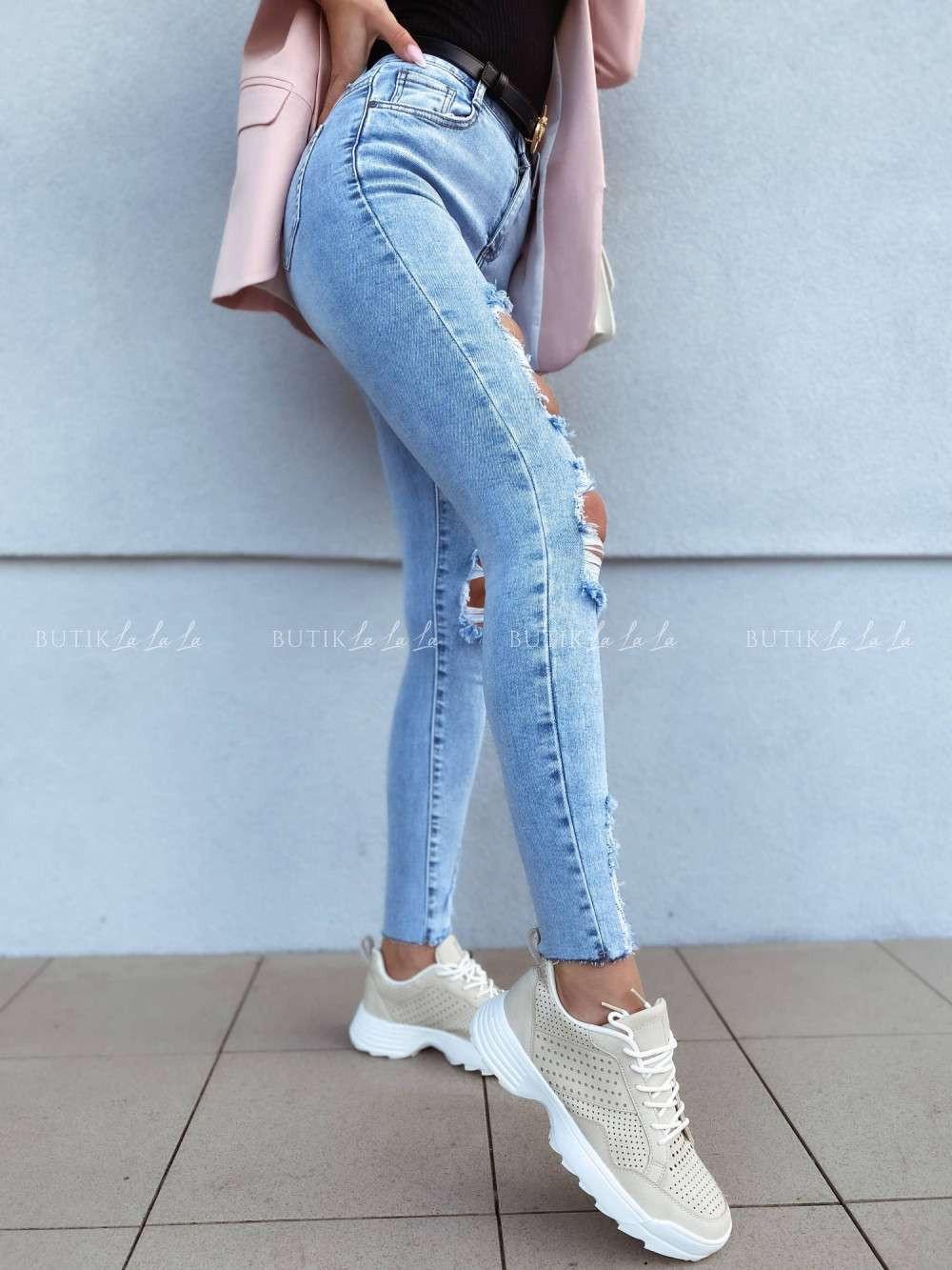 jeansy dziury