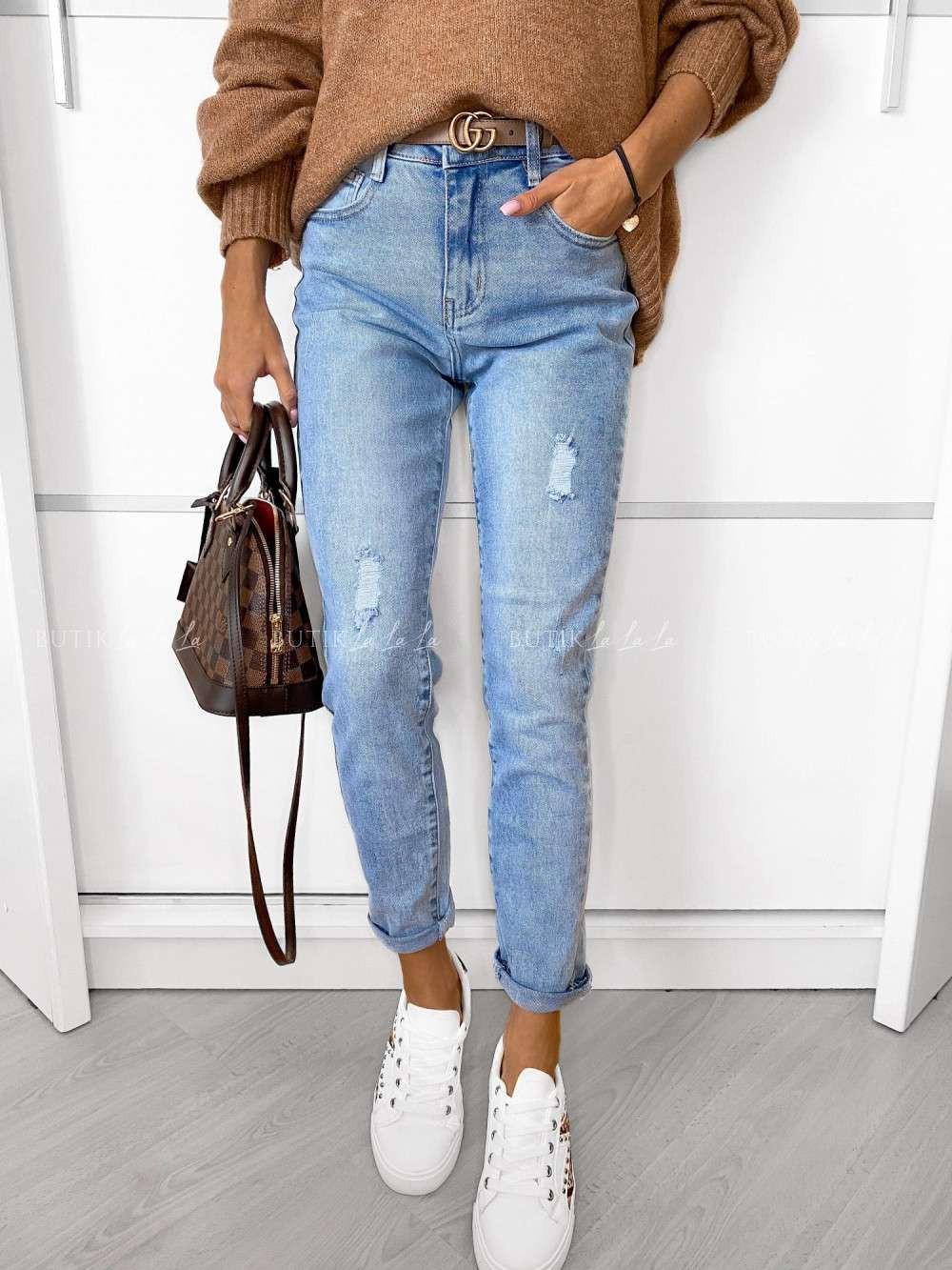 jeansy zprzetarciami