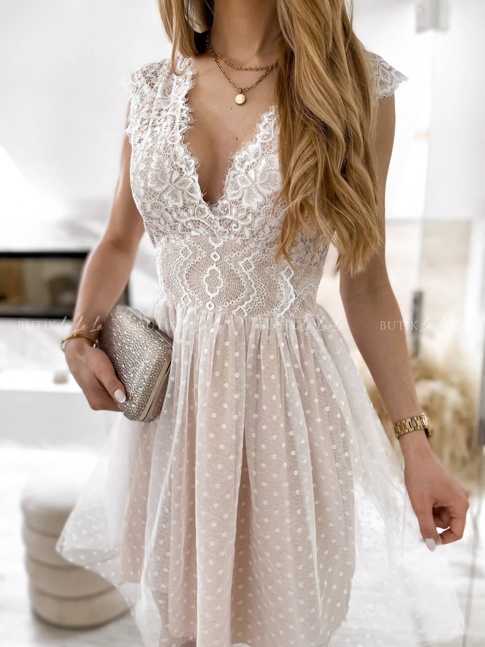 sukienka zkoronkowa góra