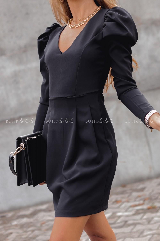 sukienka czarna zbufkami