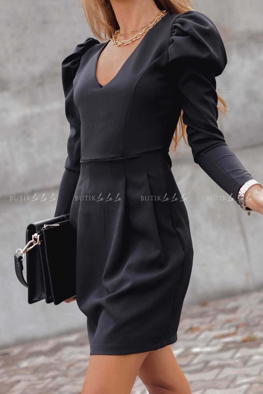 czarna dopasowana sukienka mini