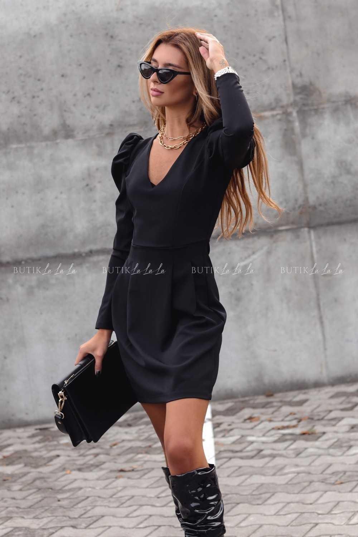 czarna sukienka dlugi rekaw