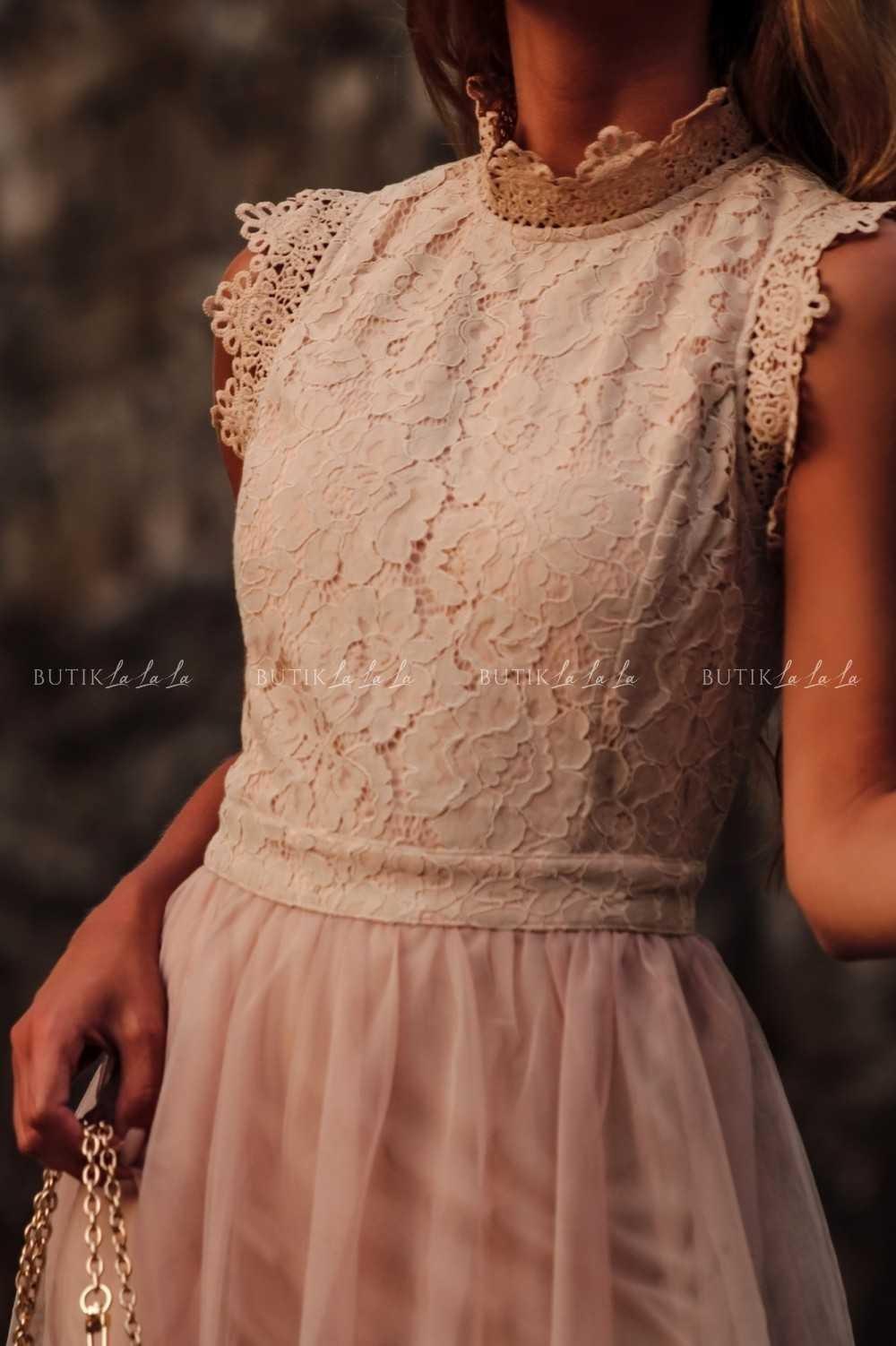 sukienka na wesele zkoronką itiulem