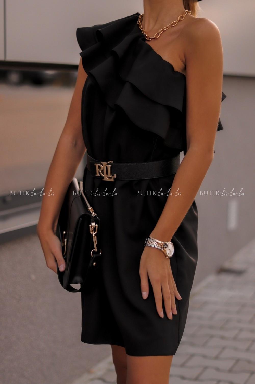 sukienka czarna na jedno ramie