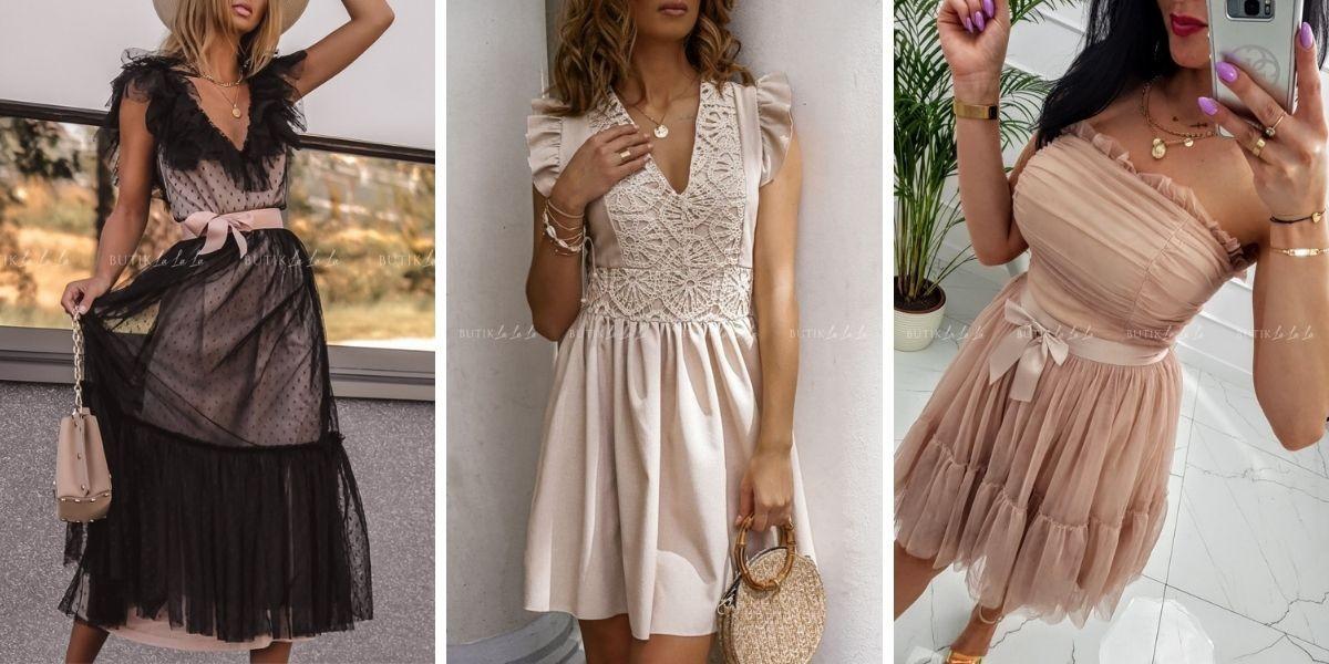 Wykończenia sukienek - najmodniejsze rodzaje