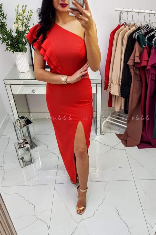 Sukienka Maxi Czerwona Lumiana