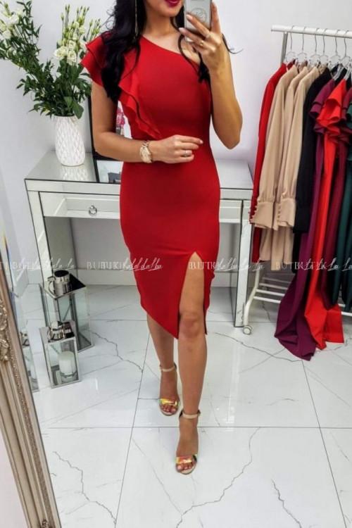 Sukienka Czerwona Lumiana