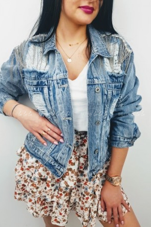 Katana jeans z dziurami Shine