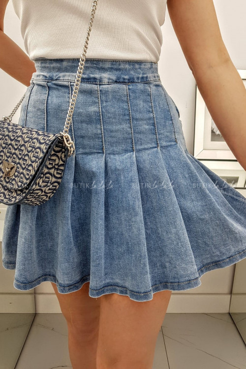 Spódnica jeans plisowana Amigo