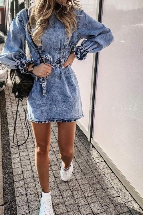 Sukienka Moris jeans blue