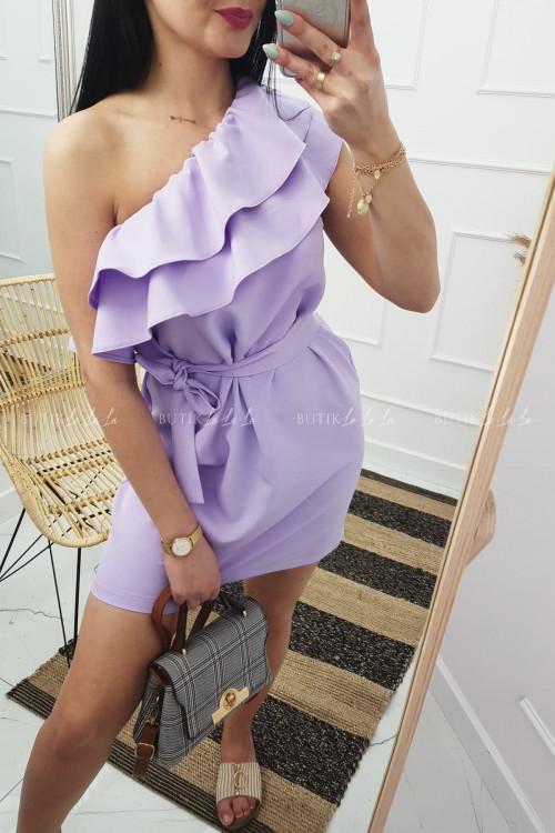 sukienka hiszpanka lilowa Lolo