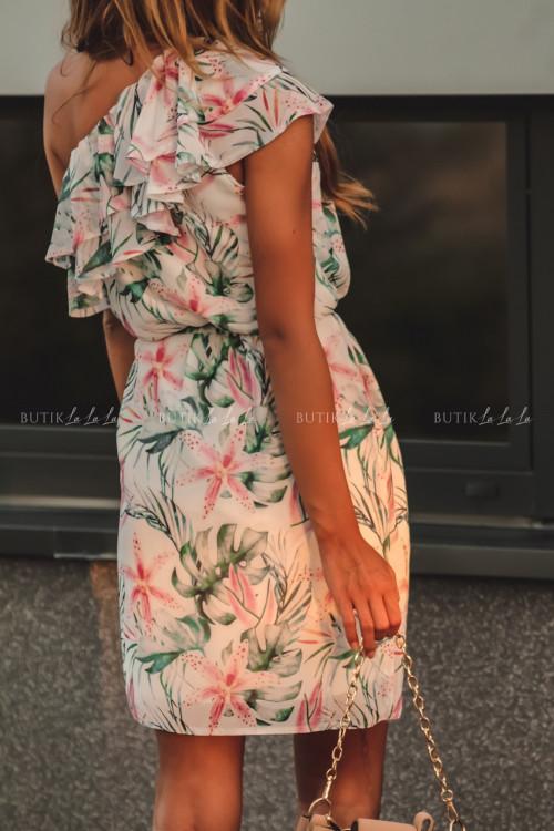 sukienka letnia mini w kwiatowy print z falbanką Simona 2 2
