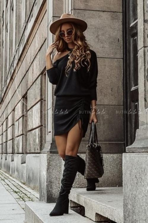 sukienka z hokerem czarna Sinda 1