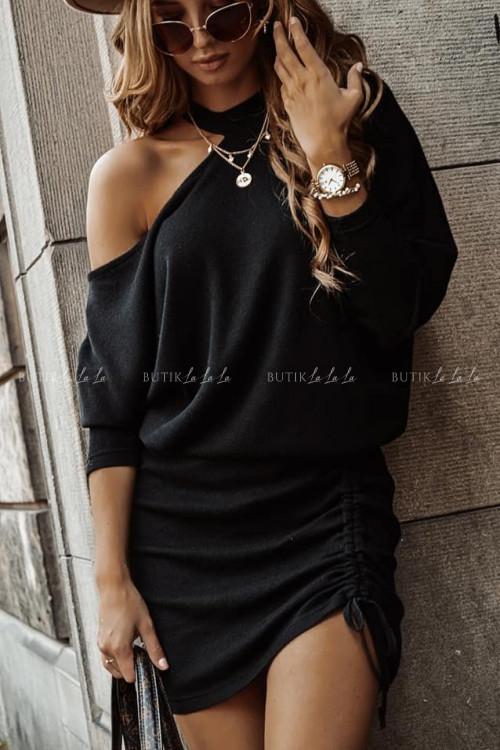 sukienka z hokerem czarna Sinda 2