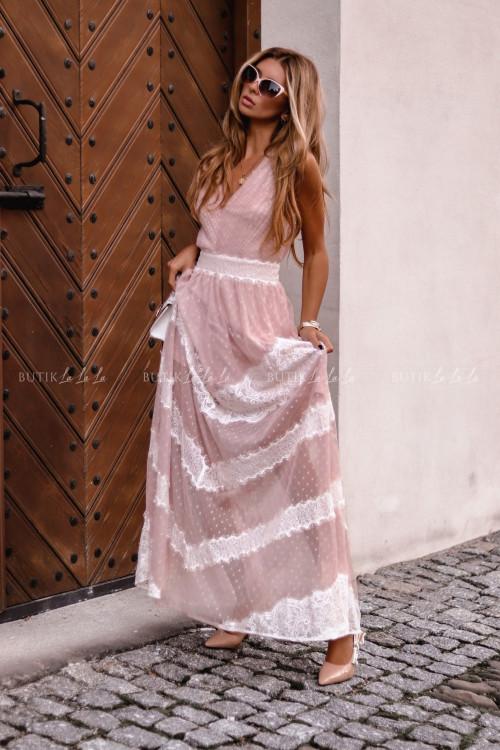 sukienka maxi z koronką Inubia